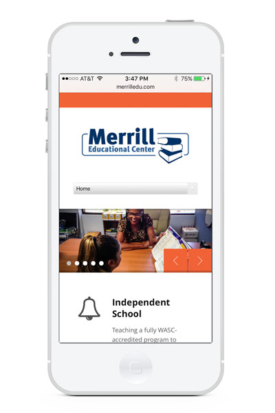 Merrill Educational Center on mobile