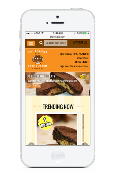 Calabasas Cake & Cookie Company on mobile