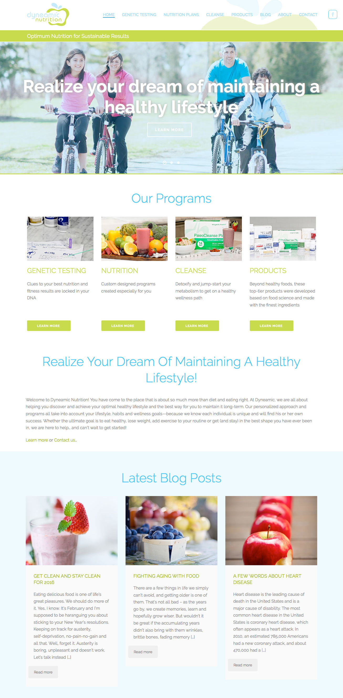 Dyneamic Nutrition - After Redesign