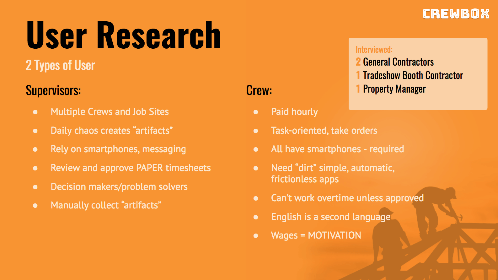 User Research Brief