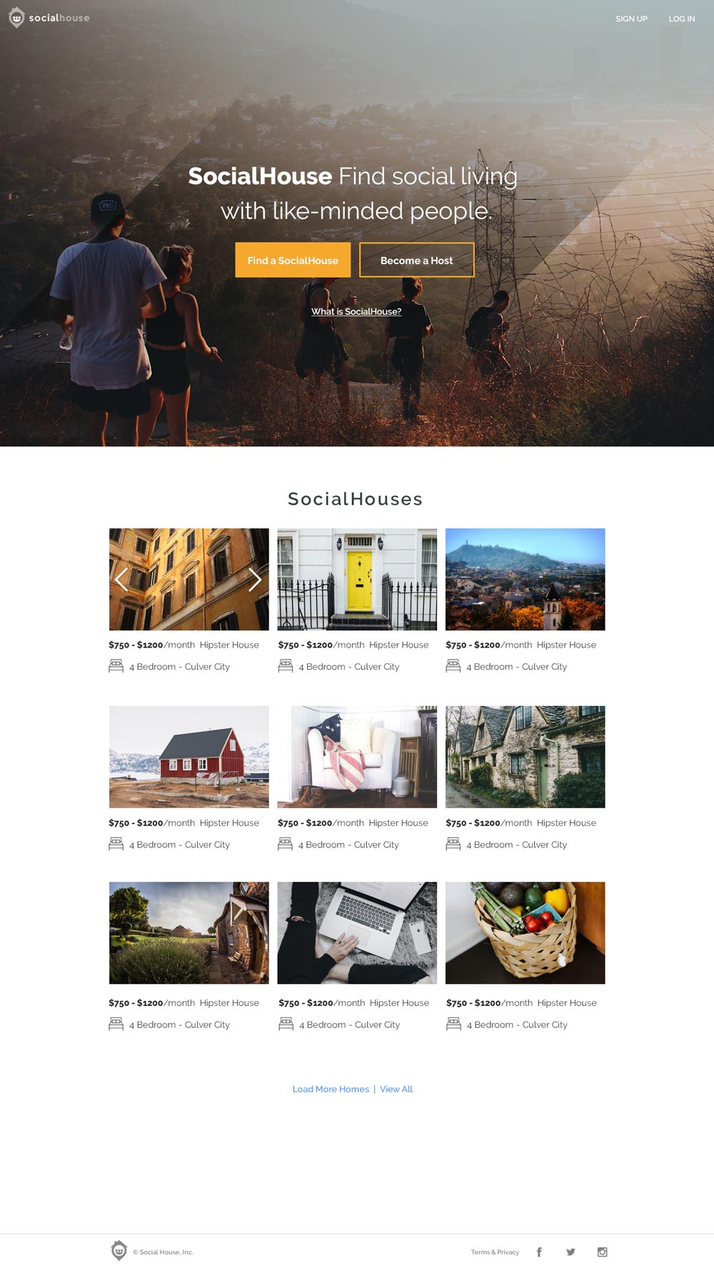 SocialHouse Homepage